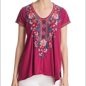 Johnny Was Annaliese Embroidered Top